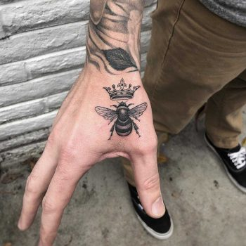 Bee and crown by Mark Walker