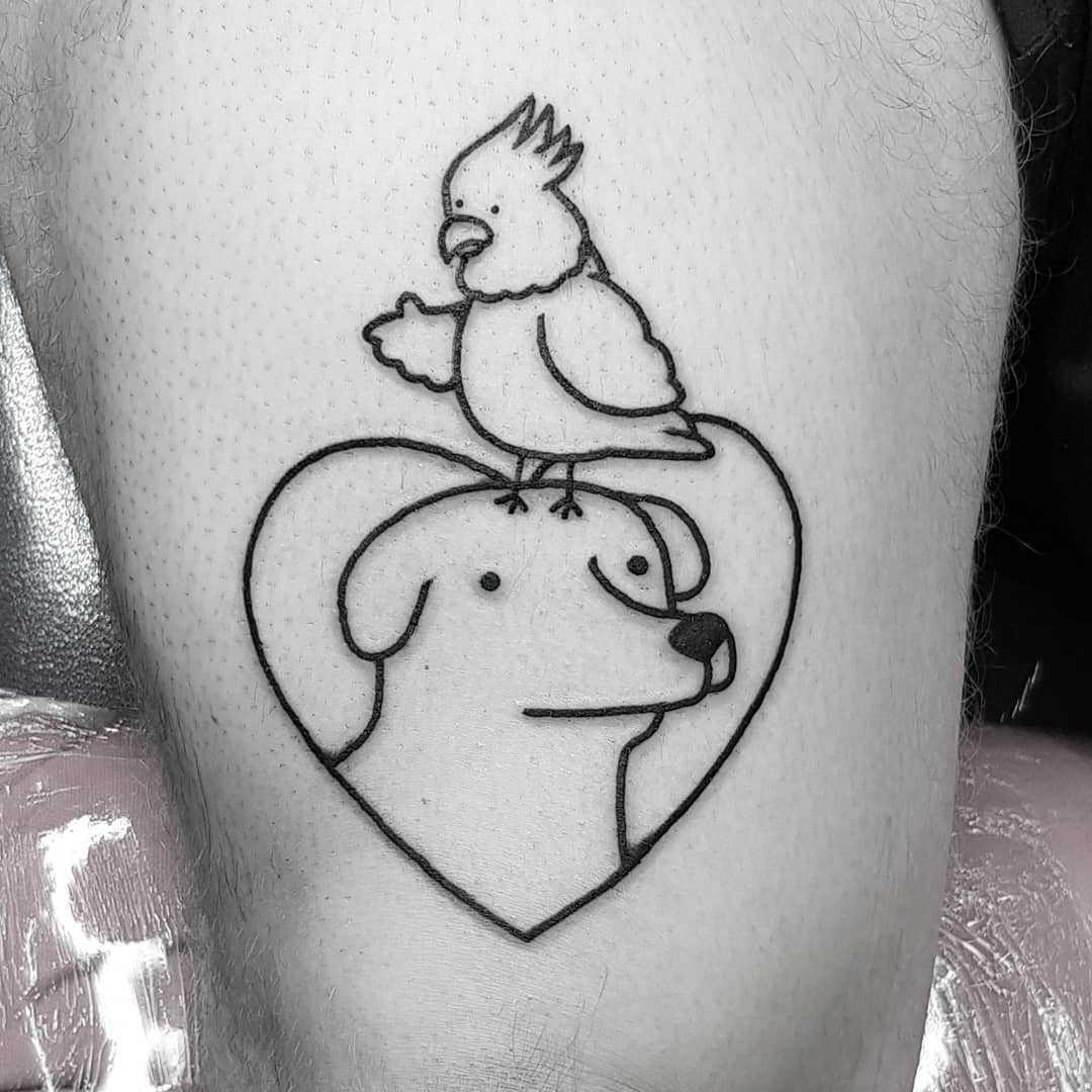 Best friends by tattooist Mr.Heggie