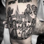 Circle of witches tattoo by tattooist MAIC