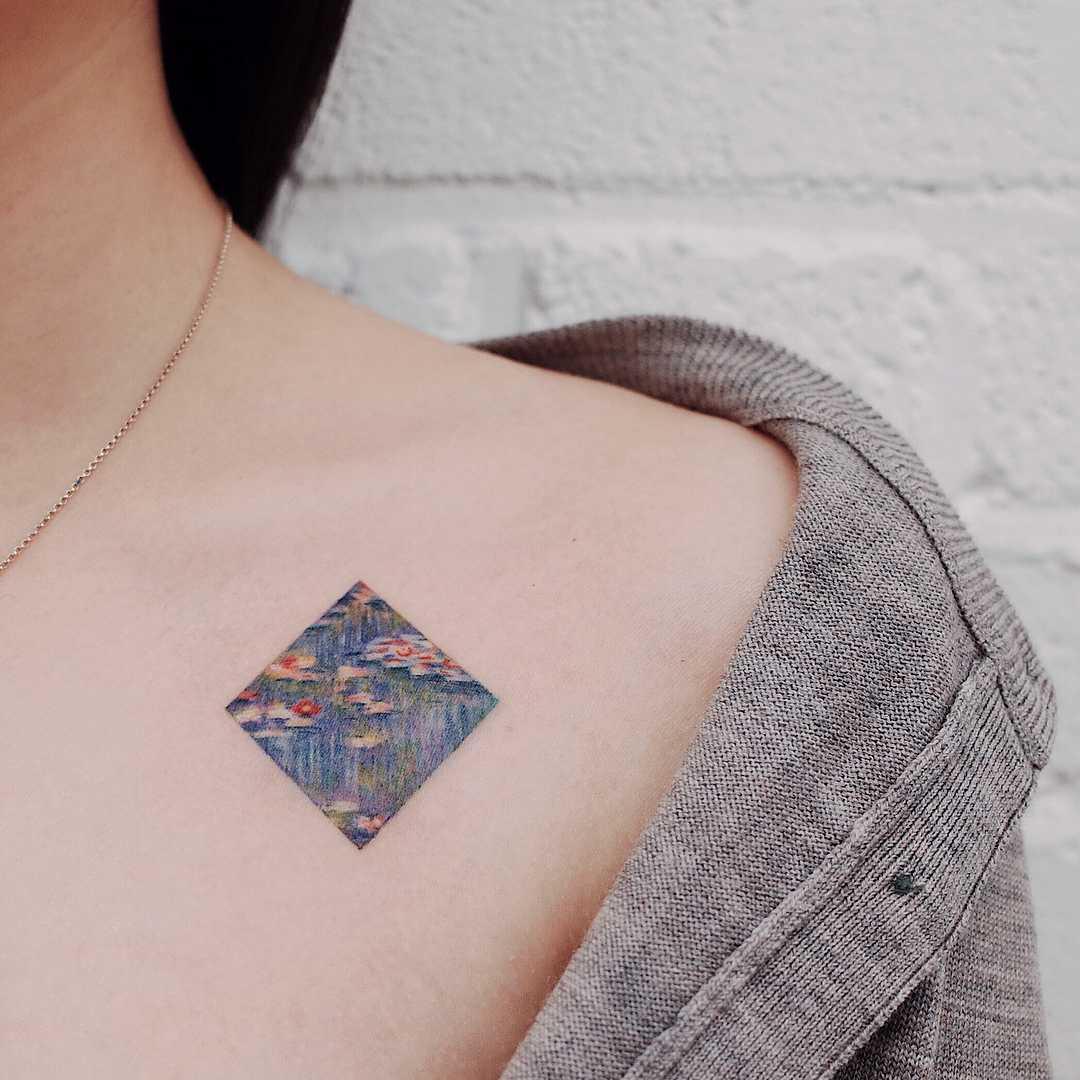 Claude Monet's Waterlilies by tattooist Saegeem