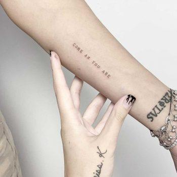 Come as you are tattoo by Sara Kori