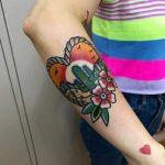 Desert piece by tattooist Alejo GMZ