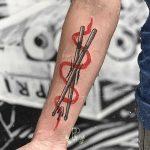 Drumsticks by tattooist rodmaztattt