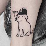 Firefighter dog by tattooist Mr.Heggie