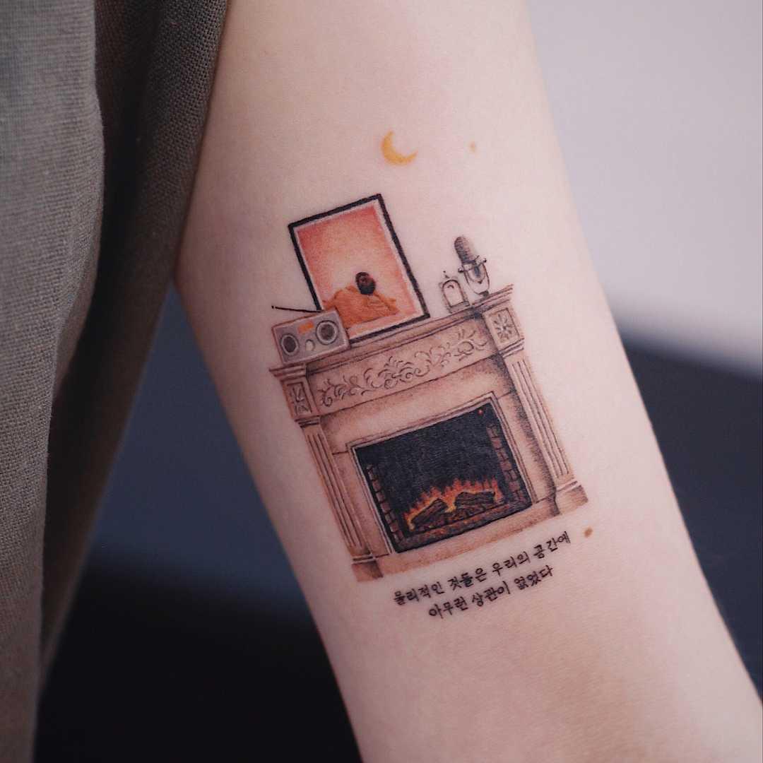 Fireplace by tattooist Saegeem