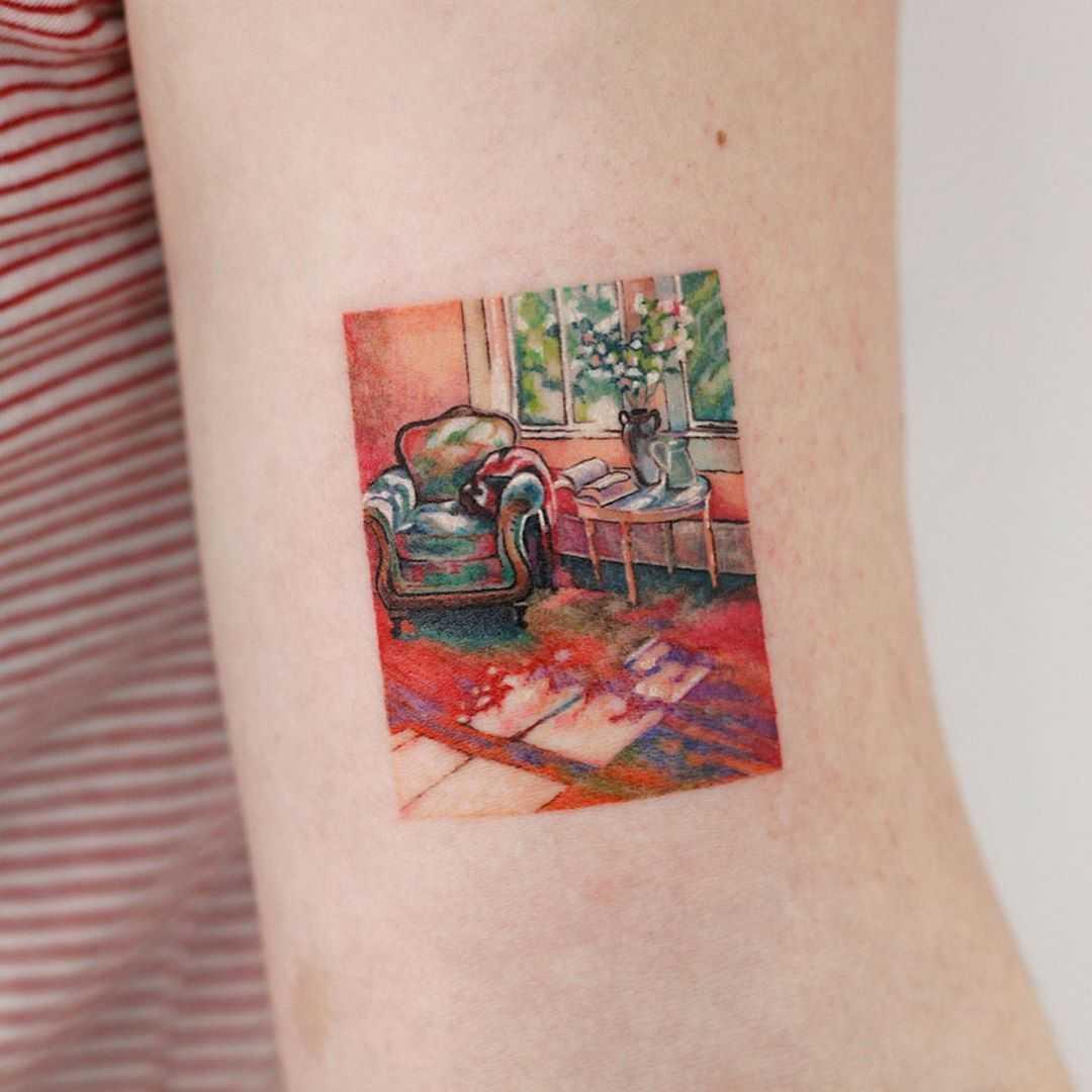 Gill Barron's Morning Light️ tattoo by tattooist Saegeem