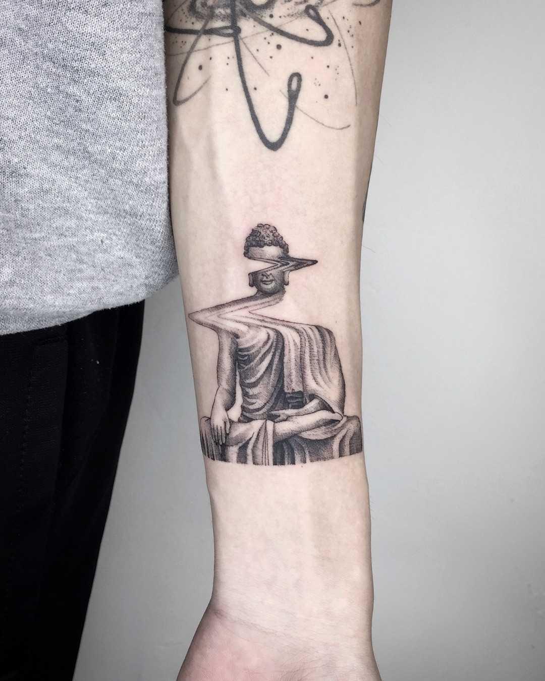 Glitched Buddha by Choco Chiang