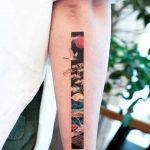 Golden frame by tattooist Franky