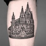 Gothic architecture by tattooist MAIC