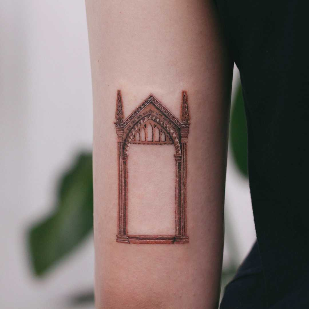 Harry Potter Mirror of Erised by tattooist Saegeem