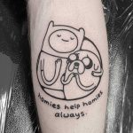 Homies help homies always by tattooist Mr.Heggie