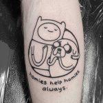 Homies help homies always by tattooist Mr.Heggie