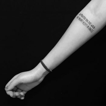 Jail lettering tattoo by Marco Sorgato