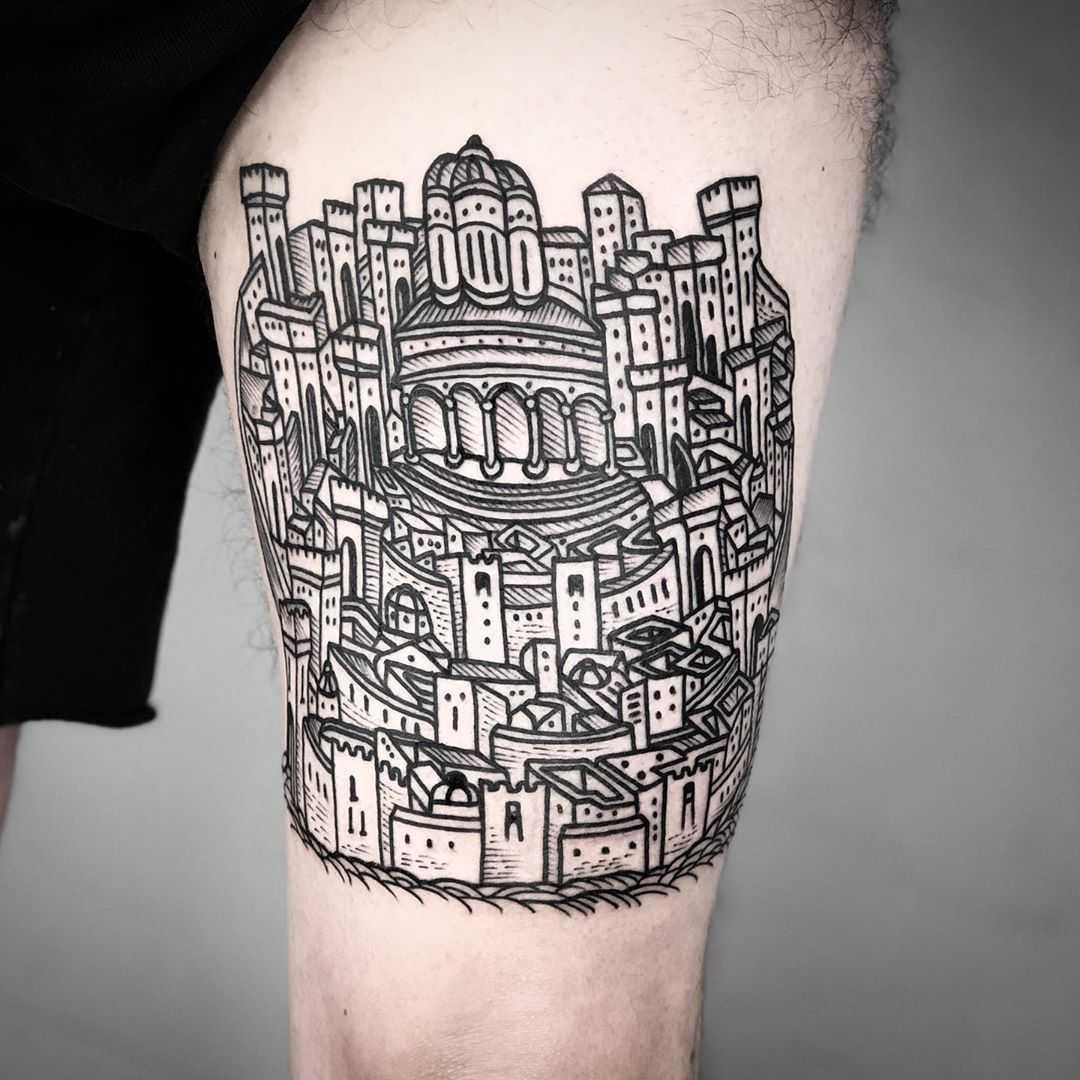 Jerusalem tattoo by tattooist MAIC