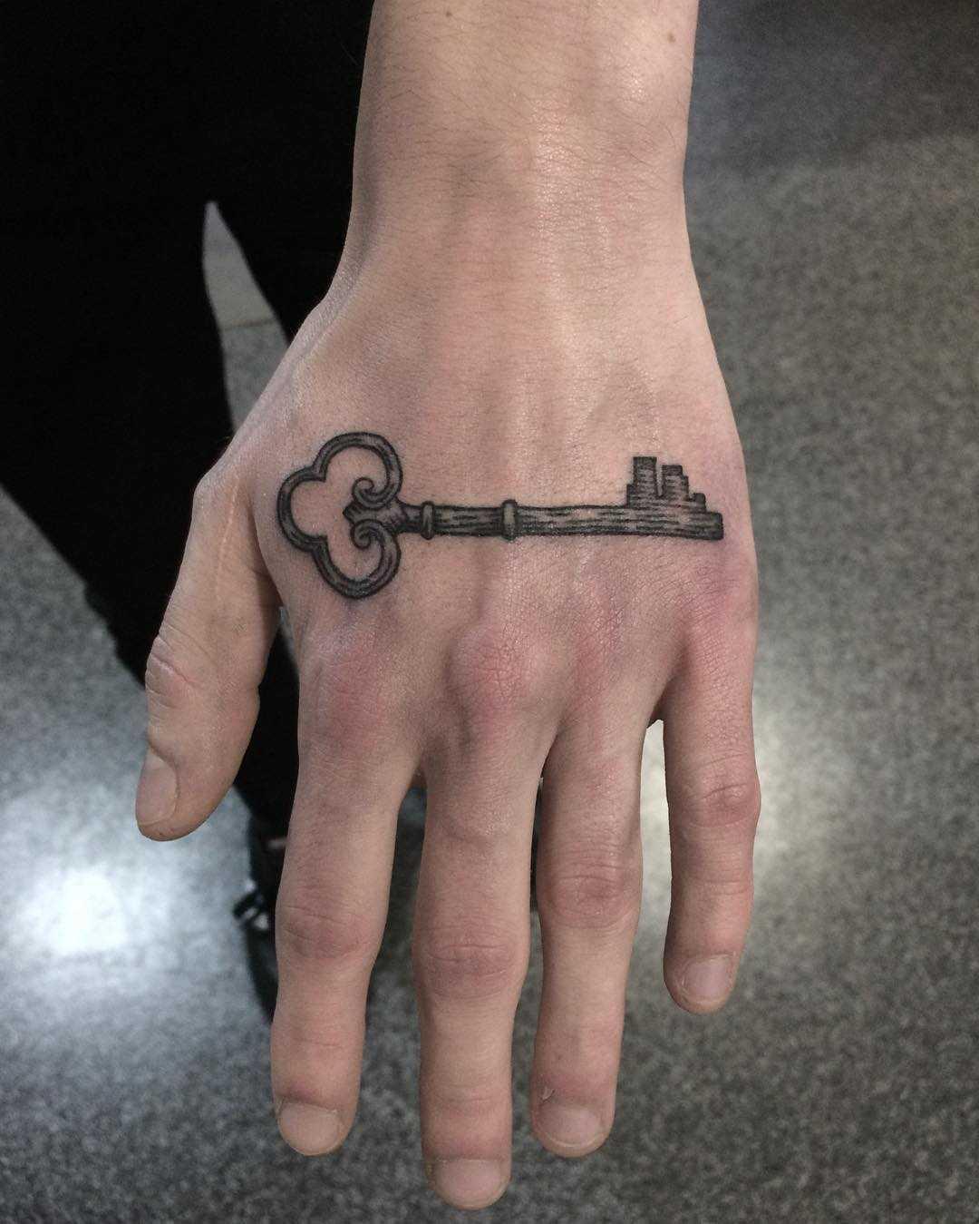 Key on a hand by @skrzyniarz_