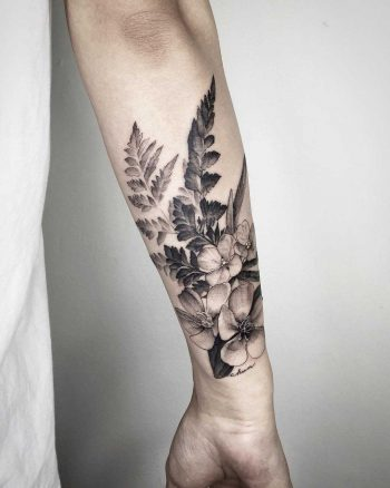 Kidney Fern, Water Lilac, and Wild Peony by Choco Chiang