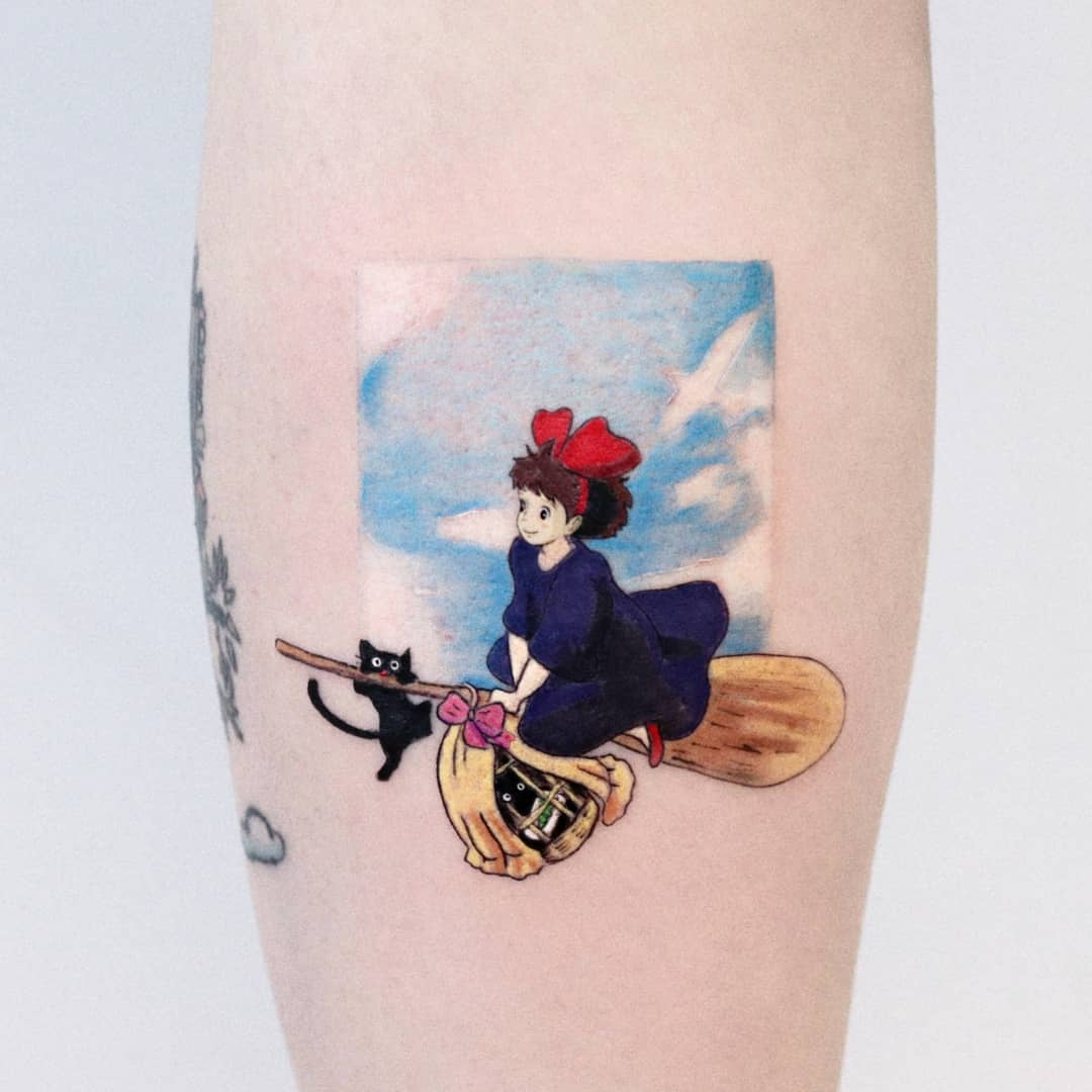 Kiki's Delivery Service tattoo by Hakan Adik
