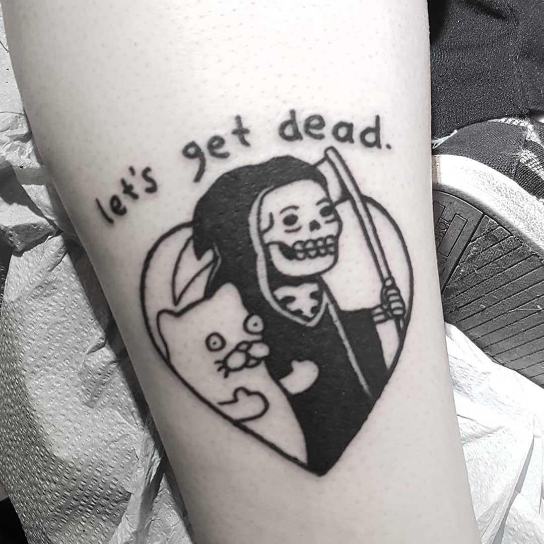 Let's get dead by tattooist Mr.Heggie