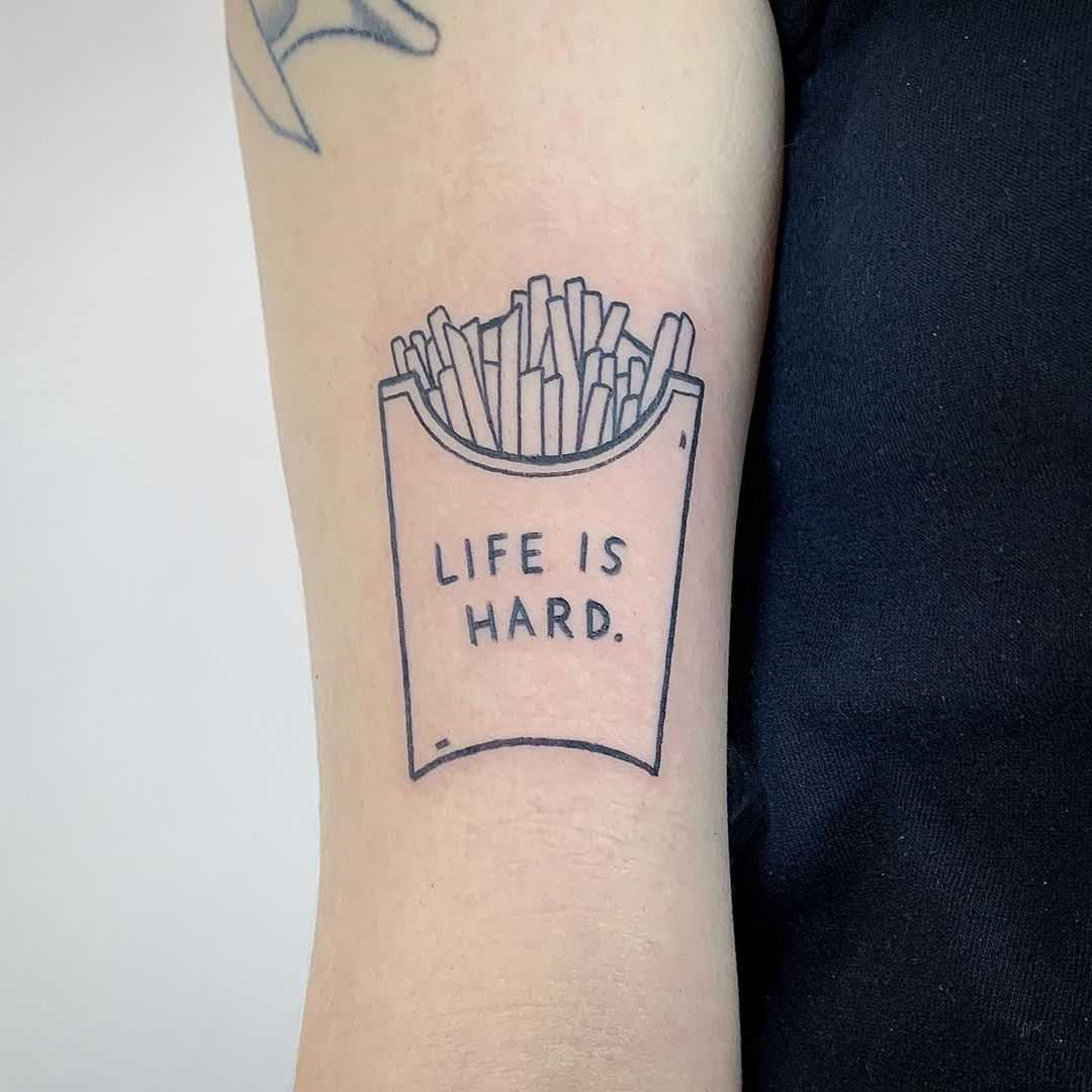 Life is hard tattoo by @themagicrosa