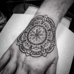 Mandala on a hand by tattooist Virginia 108