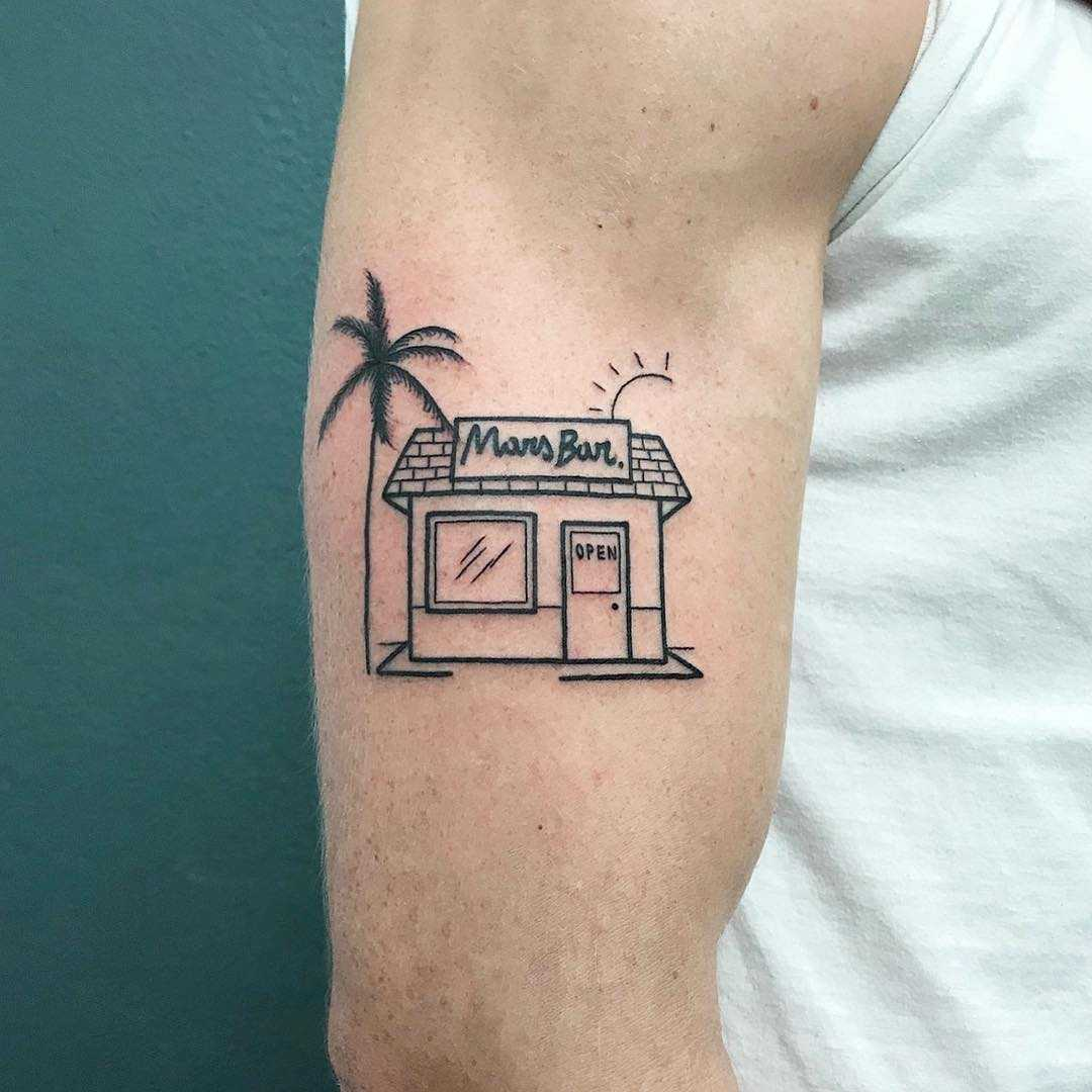 Mars Bar tattoo by @themagicrosa