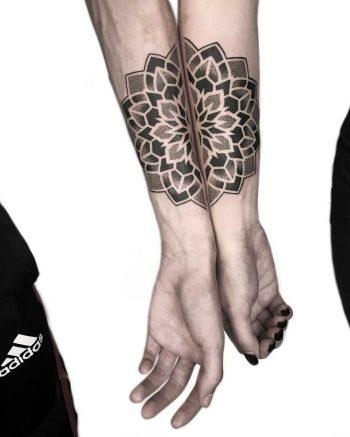 Matching brother mandalas by tattooist NEENO