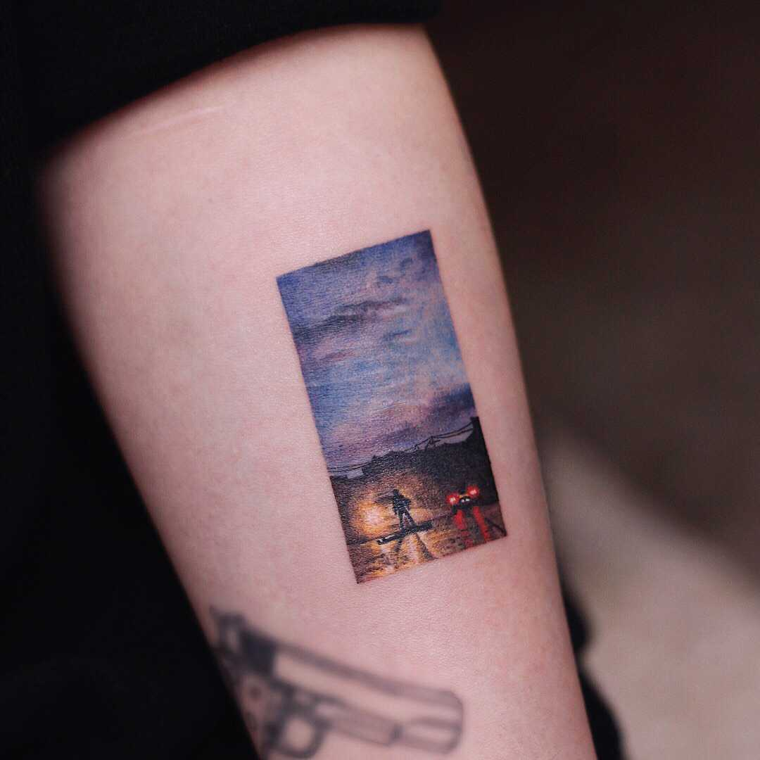 Maybe a scene from a movie by tattooist Saegeem