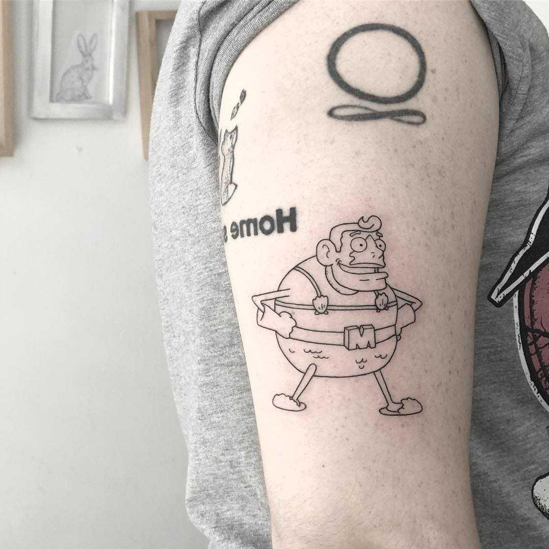 Mermaid man tattoo by Sara Kori