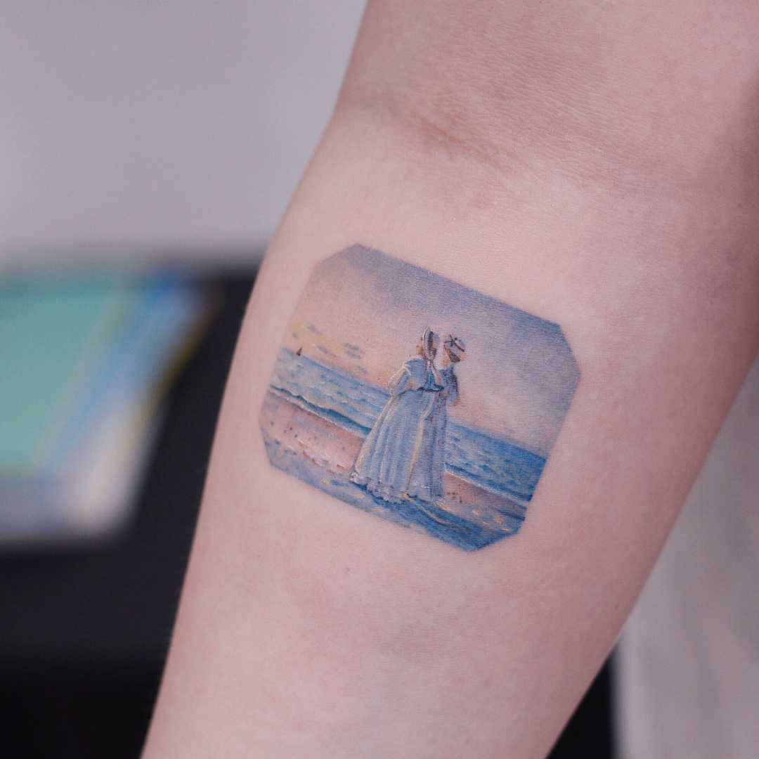Michael Peter Ancher's Two Women on the Beach by tattooist Saegeem