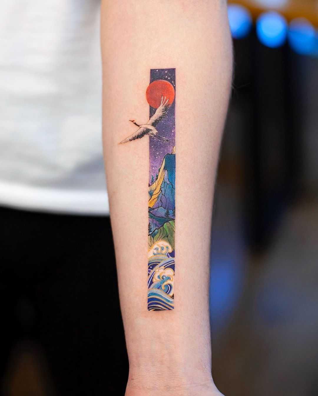 Mini frame illustration by tattooist Franky