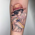 Monkey D. Luffy tattoo by Choco Chiang