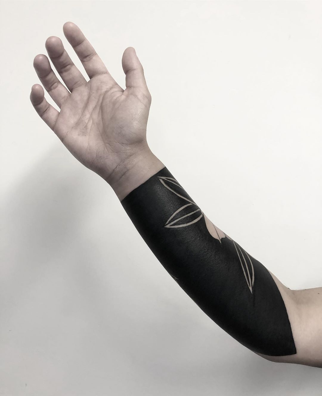 Negative-space forearm by Koldo Novella