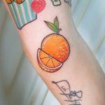 Orange by @silly_girl_tatts