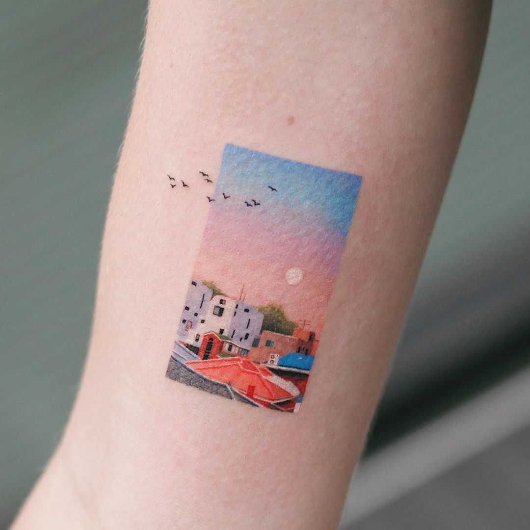 Peaceful town by tattooist Saegeem