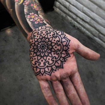 Perforated mandala by Mark Walker