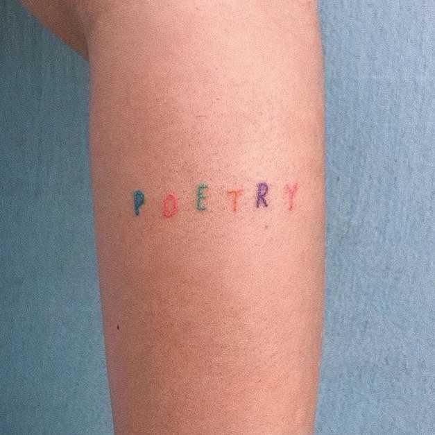 Poetry tattoo by Yaroslav Putyata