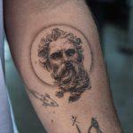 Poseidon tattoo by @ghinkos