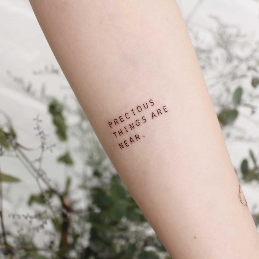Precious things are near by tattooist Saegeem