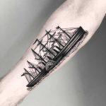 SS Californian tattoo by tattooist MAIC