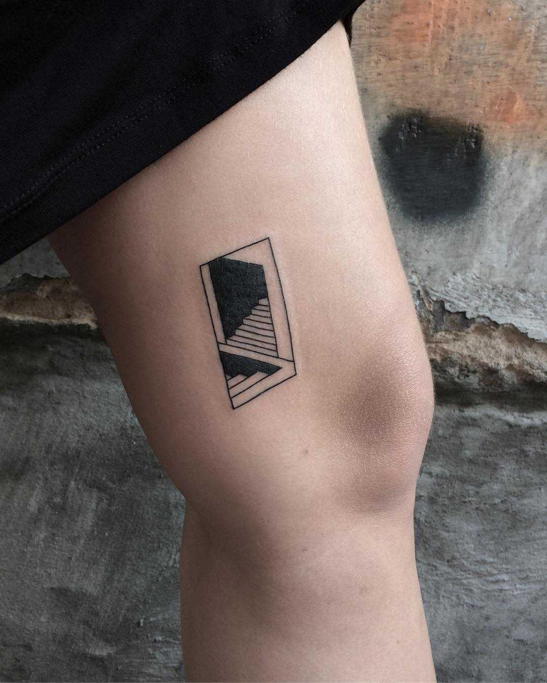 Secret entrance tattoo by @skrzyniarz_