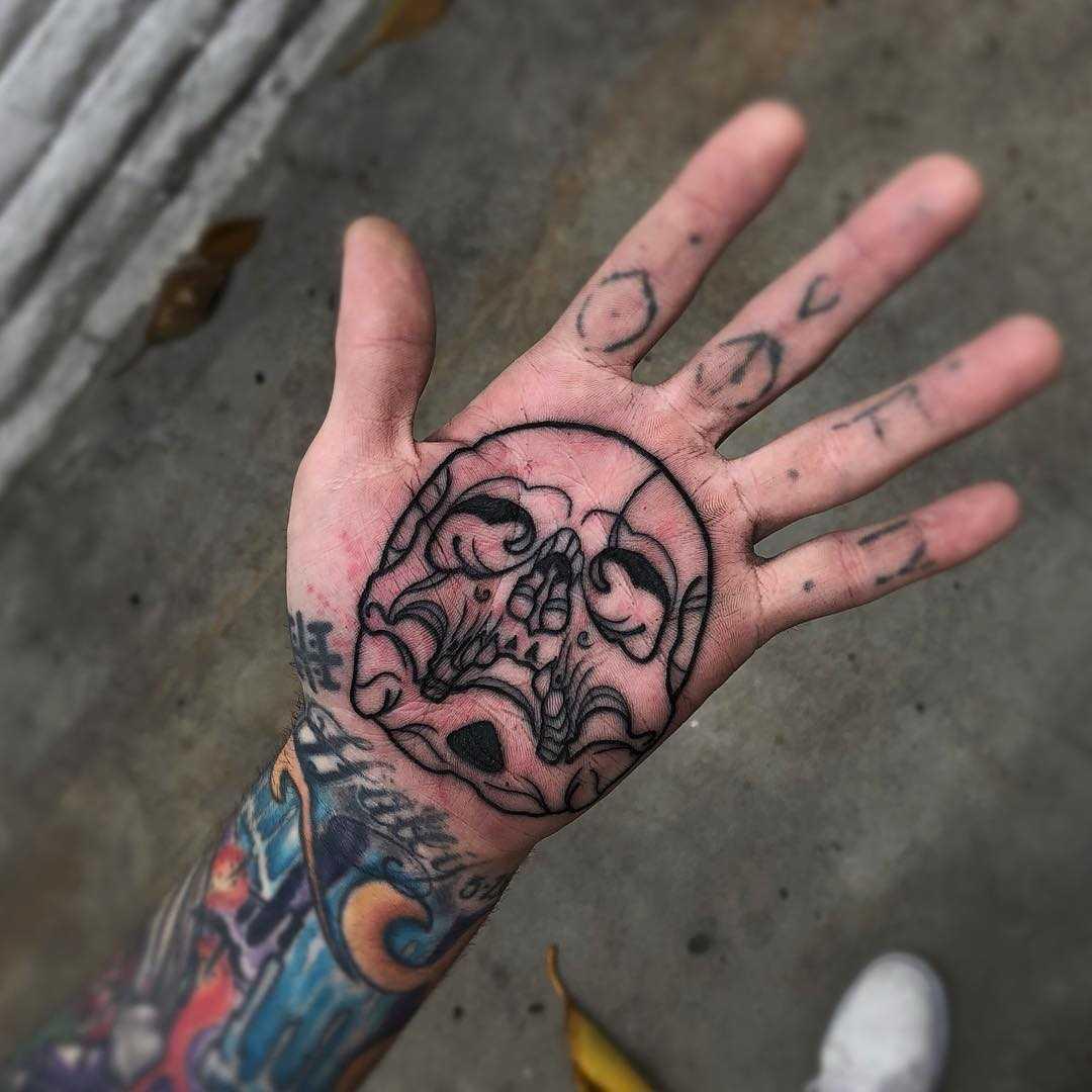 Skull palm by Mark Walker