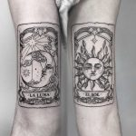 Tarot sun and moon by Angelica Talavera