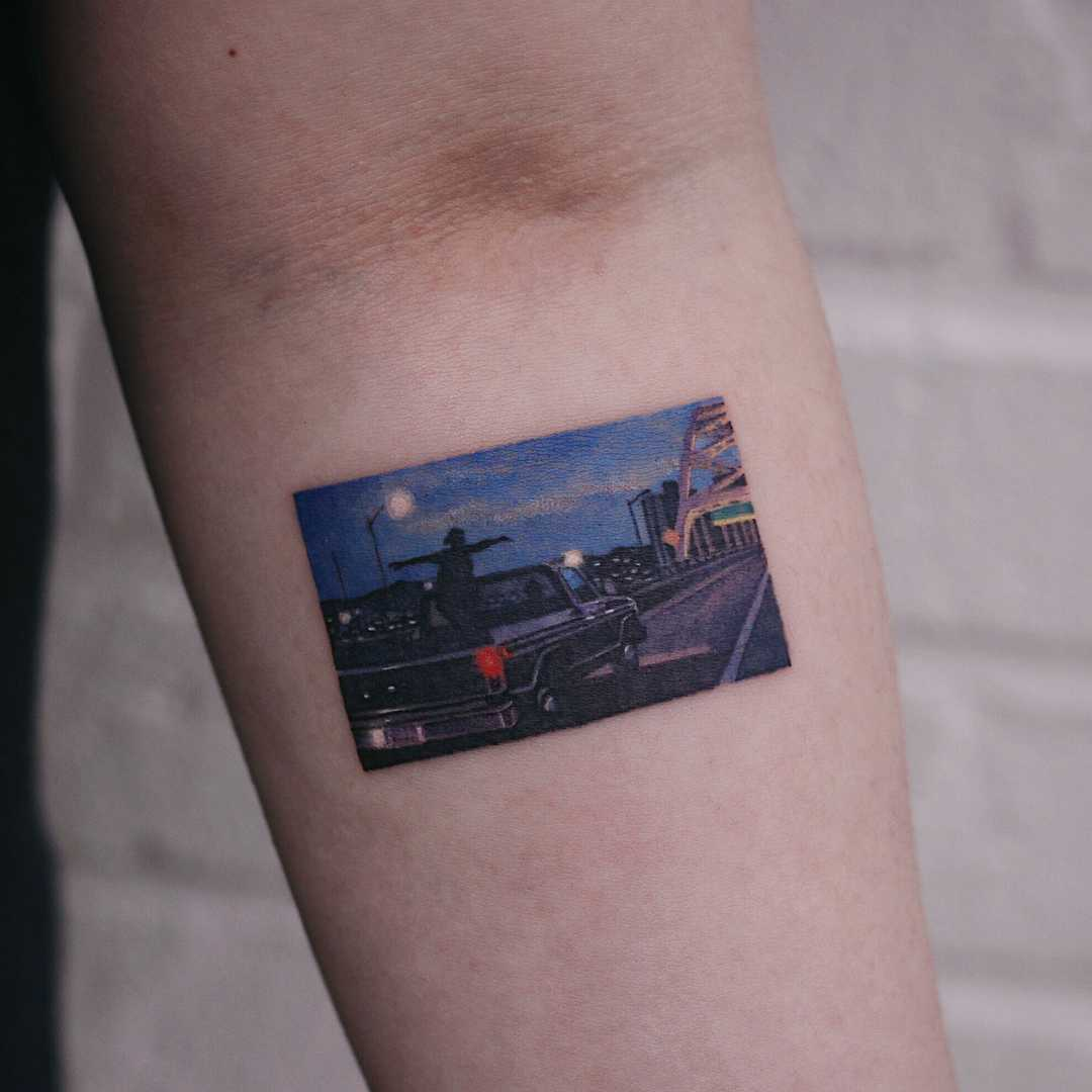 The Perks of Being a Wallflower scene by tattooist Saegeem
