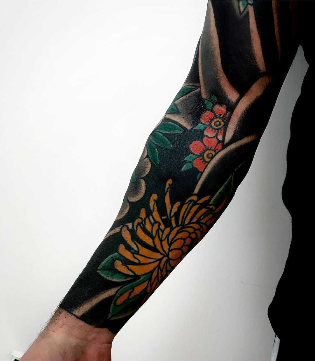 Traditional Japanese style sleeve by rocotatt