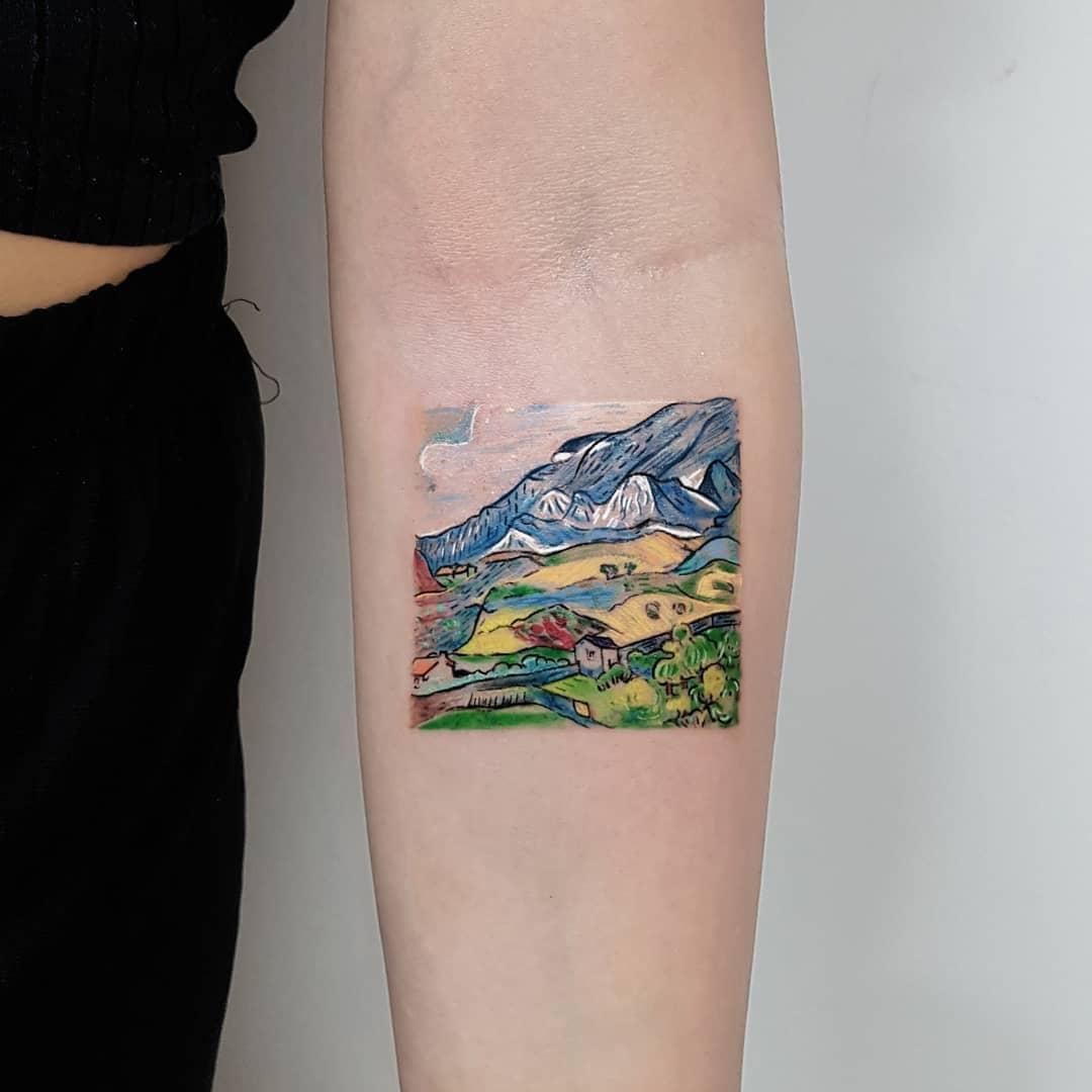 Van Gogh's Les Alpilles Mountain Landscape by Hakan Adik