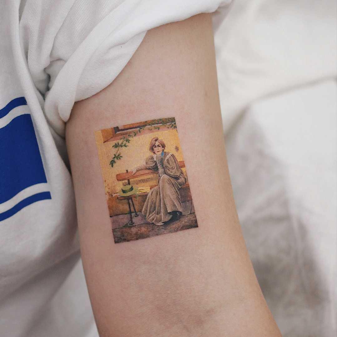 Vittorio Matteo Corcos's Sogni tattoo by tattooist Saegeem