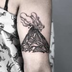 Volcano by tattooist MAIC
