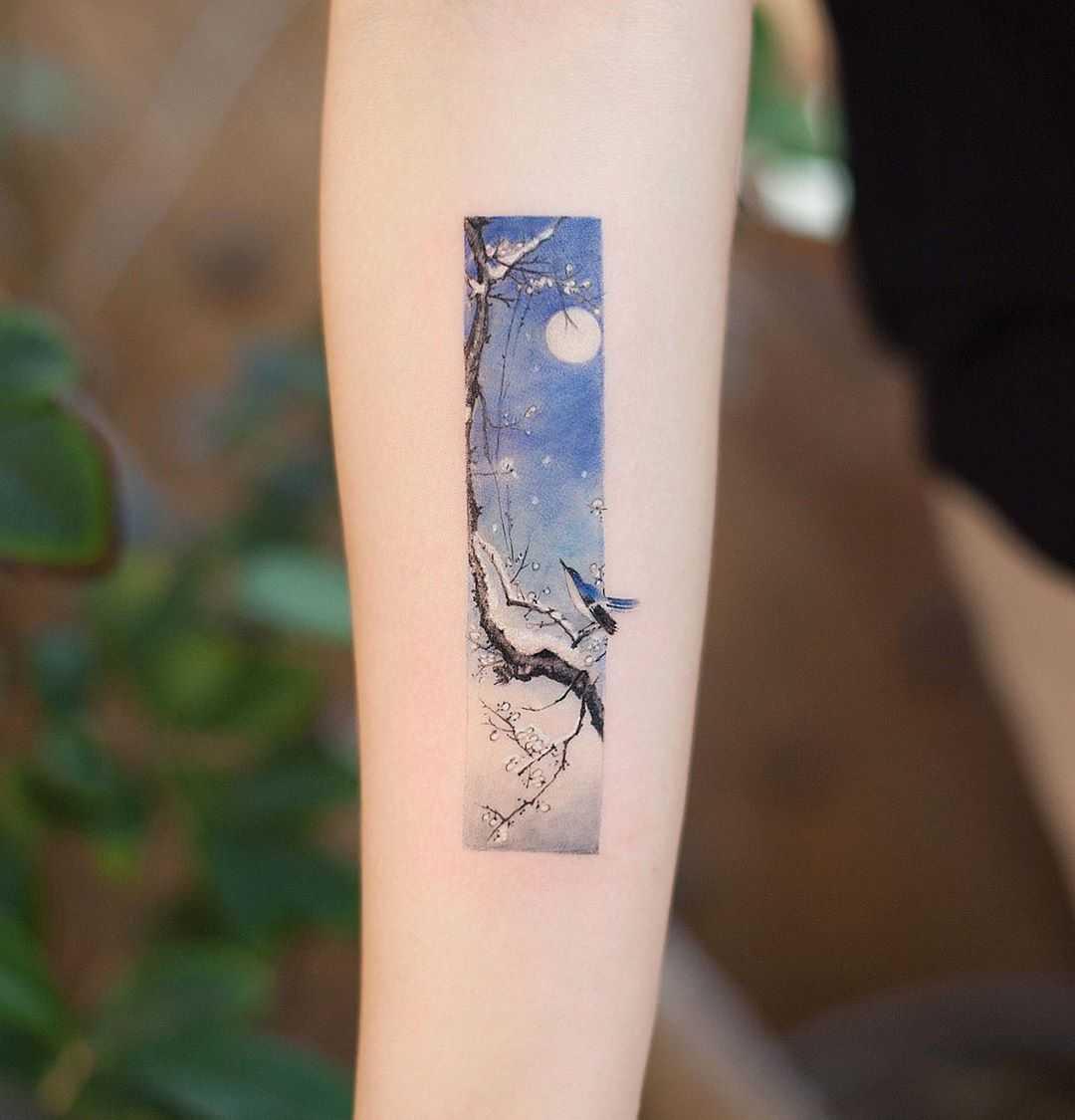 Winter frame by tattooist Franky