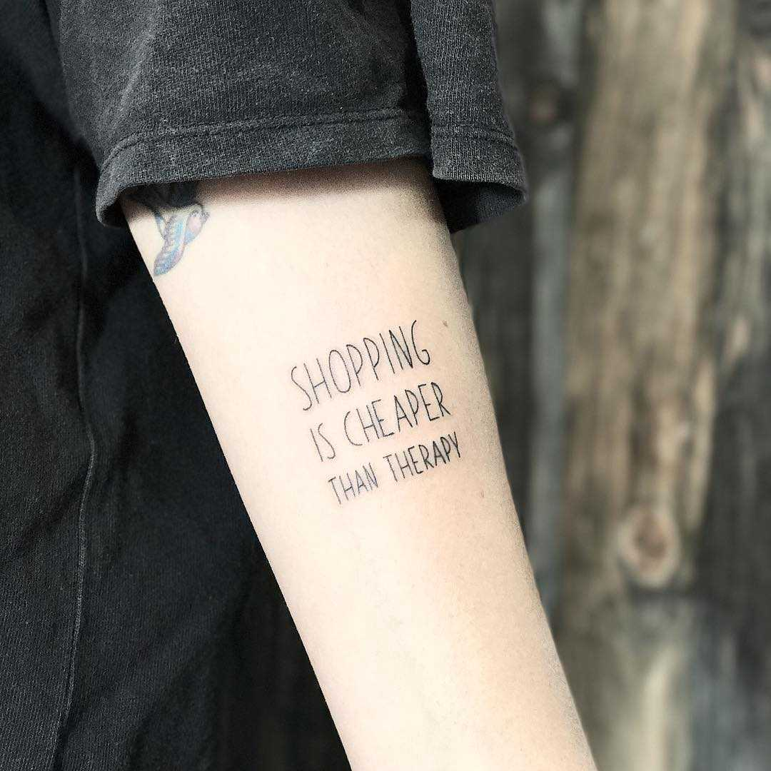 Wise words inked by Sara Kori