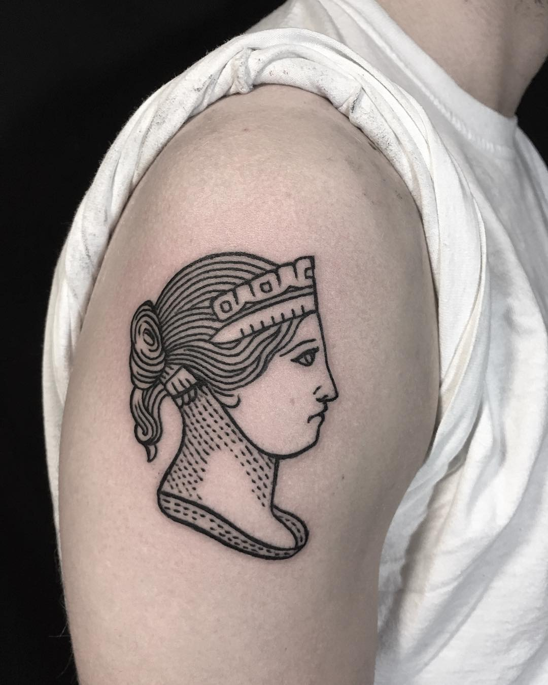 A very rare Indian stamp Half Anna tattoo by @ryanjessiman